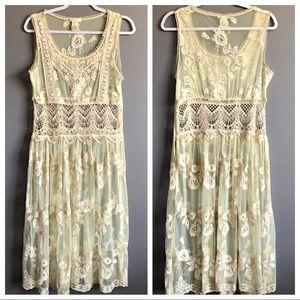 Sundance • Cream Lace Sheet Maxi Dress